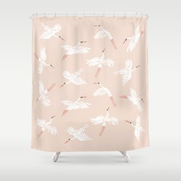 Crane Dance Shower Curtain