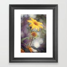 Yellow Florals Framed Art Print