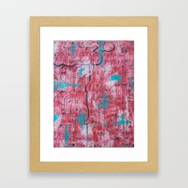 Red Tags & Throws Framed Art Print