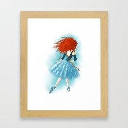 Red - Haired Lass Framed Art Print