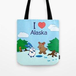 Ernest and Coraline | I love Alaska Tote Bag