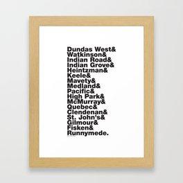 Junction& Framed Art Print