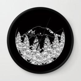 Mt. Rainier  |  Black Wall Clock