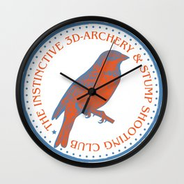 THE INSTINCTIVE 3D-ARCHERY AND STUMP SHOOTING CLUB Wall Clock