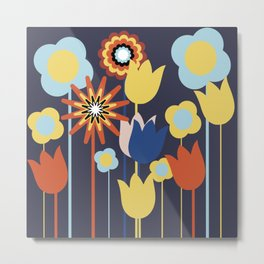 Flowers party Metal Print