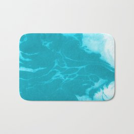 Asi - modern minimal abstract original painting watercolor japanese marble paper marbling Bath Mat