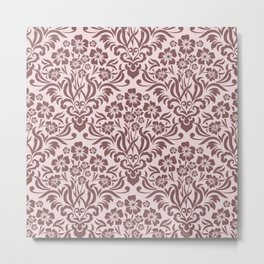 Damask Pattern 10 Metal Print