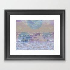 washed up Framed Art Print