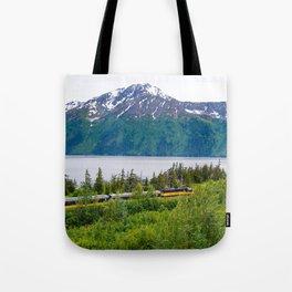 Alaska Passenger Train - Bird Point Tote Bag
