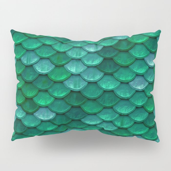 Green Penny Scales Pillow Sham