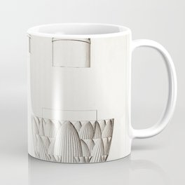Capitals of the Temples of Edfu and Philae from Histoire de lart egyptien (1878) by Emile Prisse dAv Coffee Mug