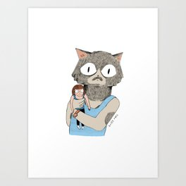 Dolf the cat Art Print
