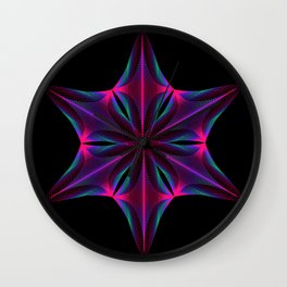 Abstract geometric shape  - rotating elements of lines and circles. Wall Clock