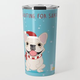 French Bulldog Waiting for Santa - Cream Edition Travel Mug