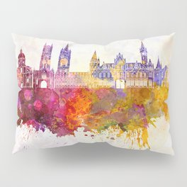 Ghent skyline in watercolor background Pillow Sham