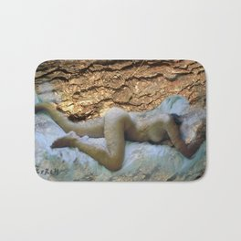 Nude on sheets Bath Mat