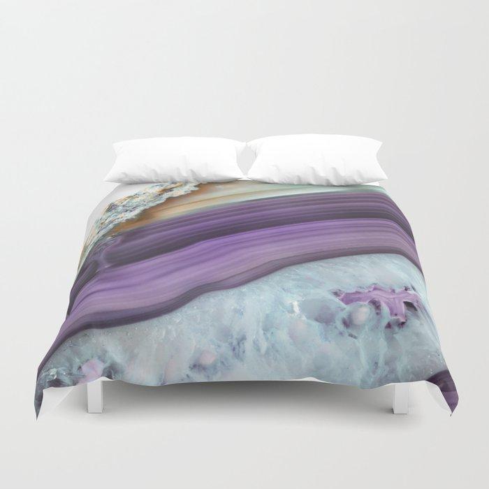 Purple Agate Slice Bettbezug