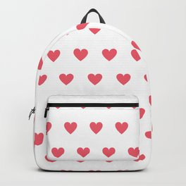 Polka dot hearts - pink Backpack