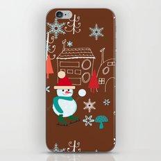 winter fun brown iPhone & iPod Skin