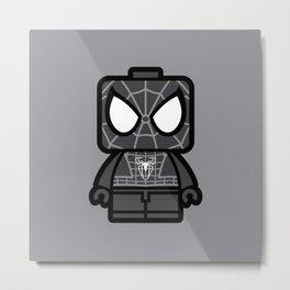 Black Spidey Chibi Man Metal Print