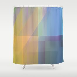 Square Sequence 002 Shower Curtain