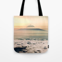 The West is Burning - Mt Hood Tote Bag