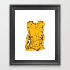 The Yellow Bits Framed Art Print