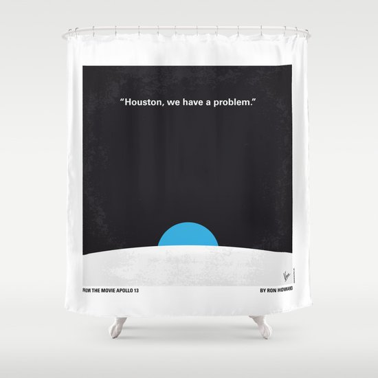 No151 My Apollo 13 minimal movie poster Shower Curtain