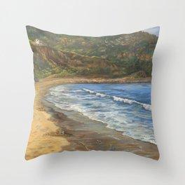 Torrance Beach to Palos Verdes Throw Pillow