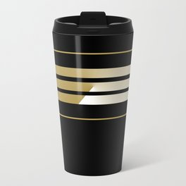 TEAM COLORS 5...Gold,black white Travel Mug