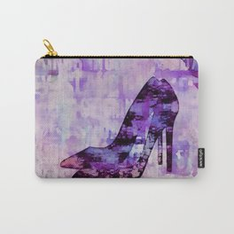 High heel female shoe watercolor art Carry-All Pouch