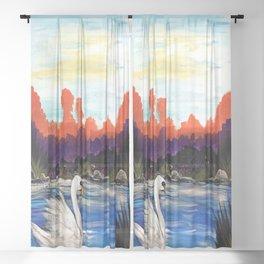 Swan Life Sheer Curtain