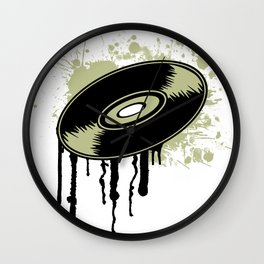 Vinyl Splatter Wall Clock