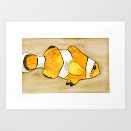 Hansa Yellow deep Clownfish Art Print
