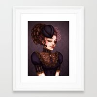 vampire Framed Art Prints featuring Vampire by Christine Alcouffe
