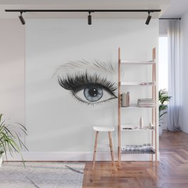Blue eye Wall Mural