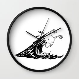 Monster Wave Wall Clock