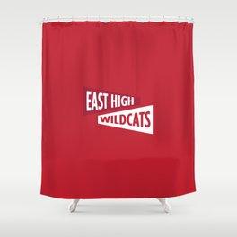 East High Wildcats Shower Curtain