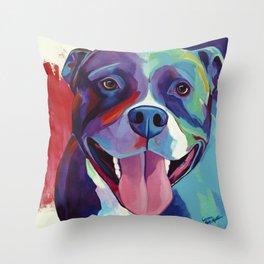 Emma - Pitbull Pop Art Throw Pillow