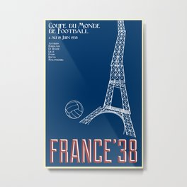 World Cup: France 1938 Metal Print