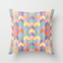 Colorful geometric blocks Throw Pillow