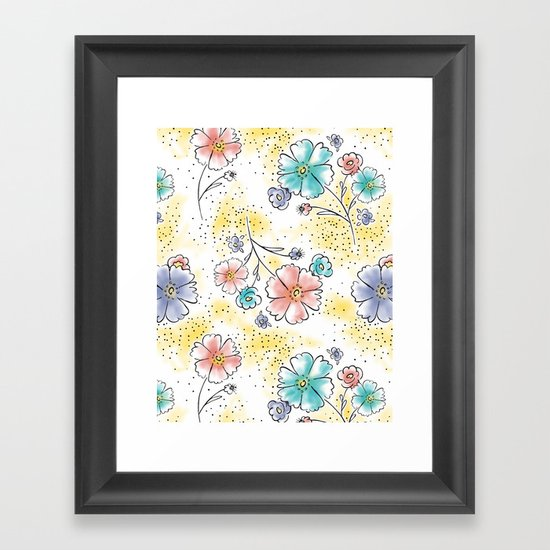 Brilliant Blooms Framed Art Print