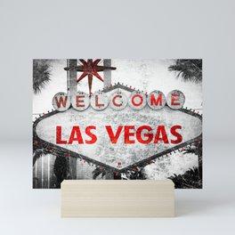 Fabulous Las Vegas Sign Scratched Aged Mini Art Print