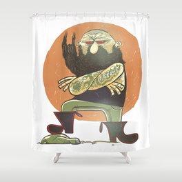 Epic Metal Beard. Shower Curtain