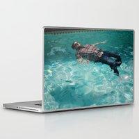 swimming Laptop & iPad Skins featuring Swimming by Burdeinei + Dea