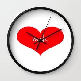 Heart Meh. Wall Clock