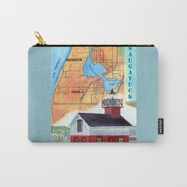 Map of Saugatuck Carry-All Pouch