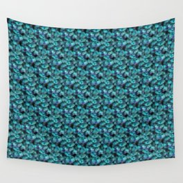 Isis Blue Feather Pattern Wall Tapestry