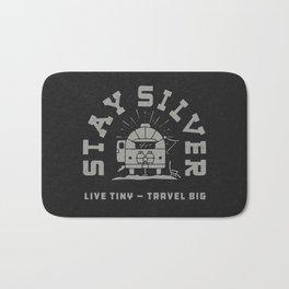 """""""Stay Silver"""" Retro Type (1 color) Bath Mat"""