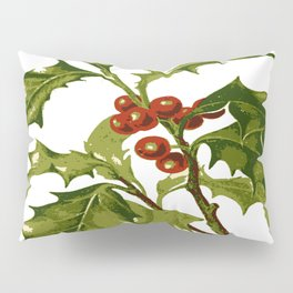 Holly Christmas Red Berry Pillow Sham